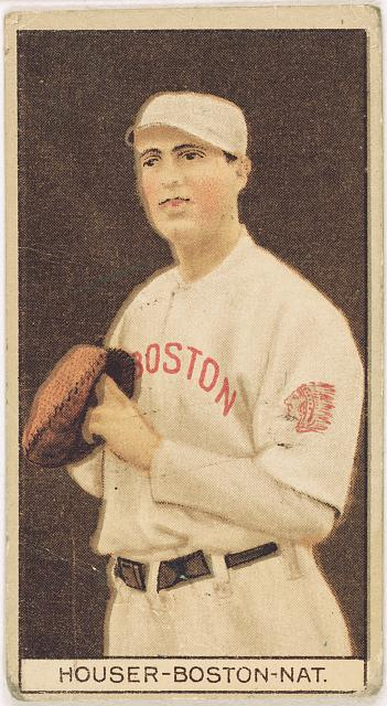 [Ben Houser, Boston Braves, baseball card portrait]