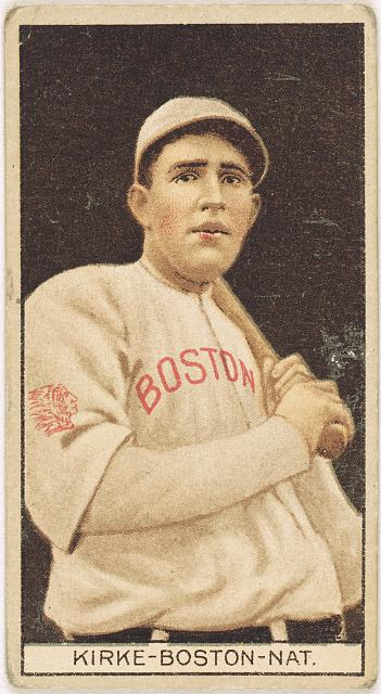 [Jay Kirke, Boston Braves, baseball card portrait]