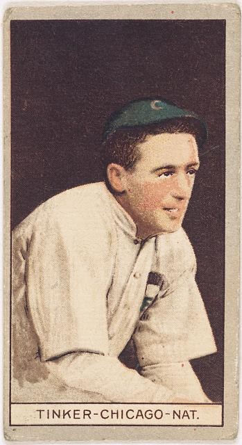 [Joseph Tinker, Chicago Cubs, baseball card portrait]
