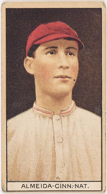 [Rafael Almeida, Cincinnati Reds, baseball card portrait]