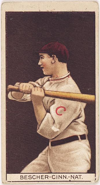 [Robert Bescher, Cincinnati Reds, baseball card portrait]