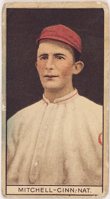 [Mike Mitchell, Cincinnati Reds, baseball card portrait]