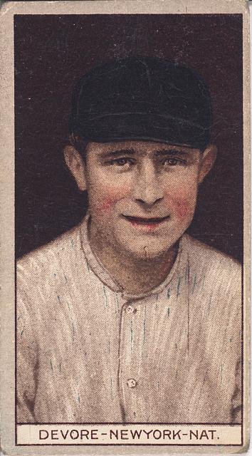 [Joshua Devore, New York Giants, baseball card portrait]