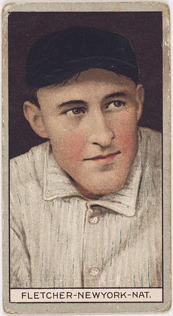 [Arthur Fletcher, New York Giants, baseball card portrait]