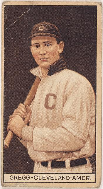 [Vean Gregg, Cleveland Naps, baseball card portrait]