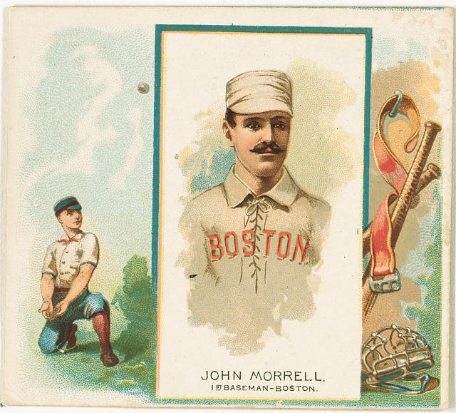 [John Morrill, Boston Beaneaters, baseball card portrait]