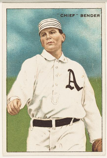 [Chief Bender, Philadelphia Athletics, baseball card portrait]