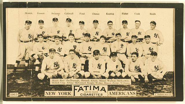 [New York Yankees, baseball card portrait]