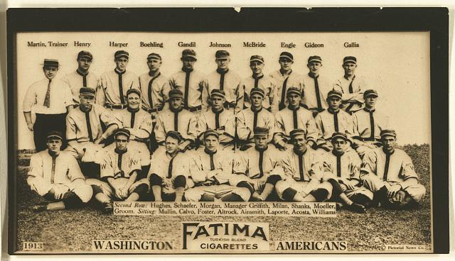 [Washington Nationals, baseball card portrait]