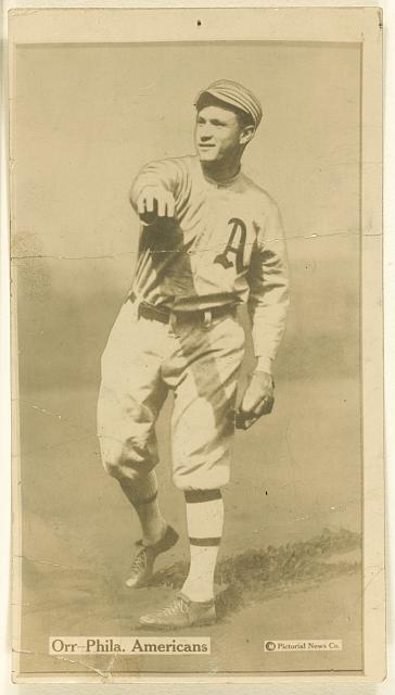 [Bill Orr, Philadelphia Athletics, baseball card portrait]