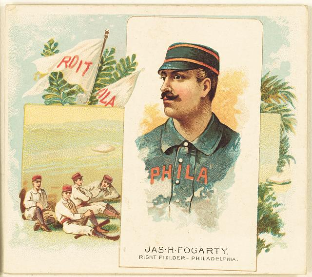 [Jas. H. Fogarty, Philadelphia Quakers, baseball card portrait]