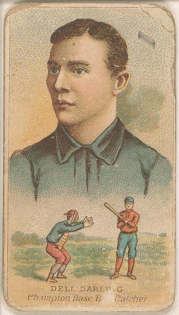 [Dell Darling, Chicago White Stockings, baseball card portrait]