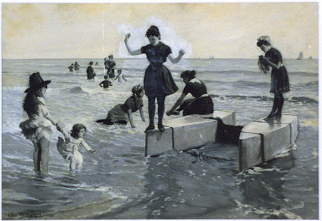 Seashore bathing