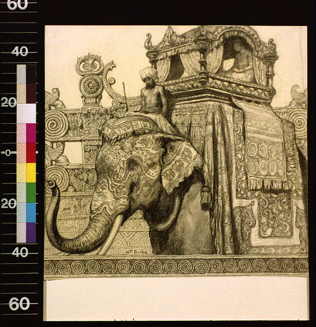 [Elephant with howdah]