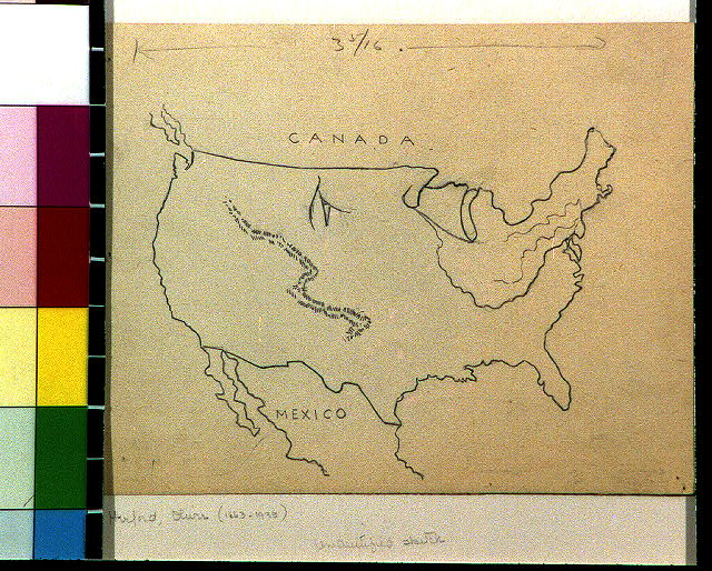 [United States with jagged line near Rocky Mountains]