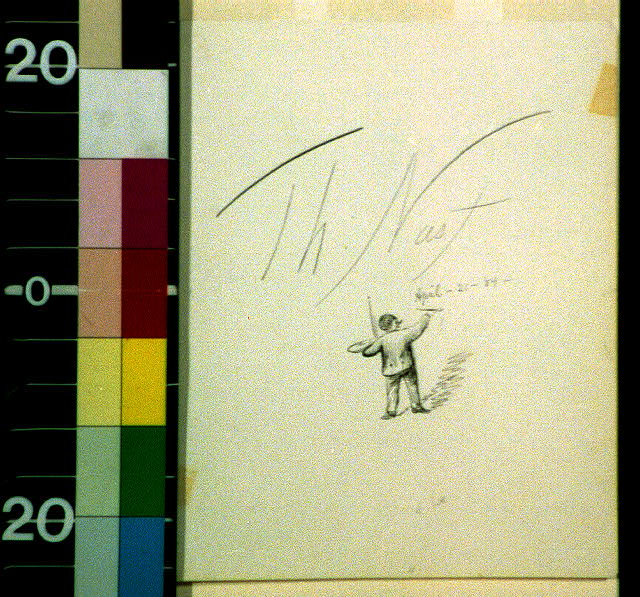 "[Artist signing ""Th. Nast, April 21, '84""]"