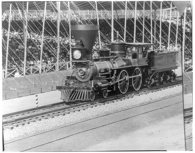 "The ""William Mason,"" 1856, precursor of present-day locomotive..."
