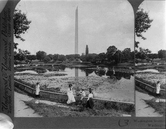 Washington Monument, tallest stone structure in the World (555 ft.) east - Washington, D.C.