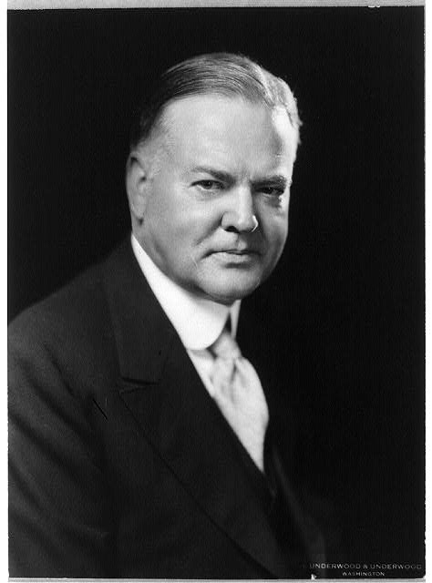 [Herbert Hoover, head-and-shoulders portrait, facing slightly right]