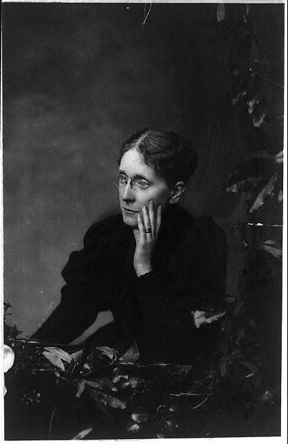 [Frances Willard, half-length portrait, seated, facing left]