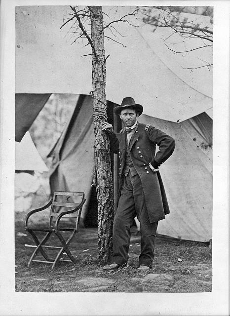 [General Ulysses S. Grant at his headquarters in Cold Harbor, Virginia]