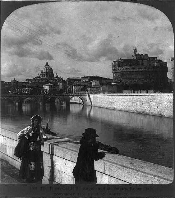 The Tiber, Castle St. Angelo and St. Peter's, Rome