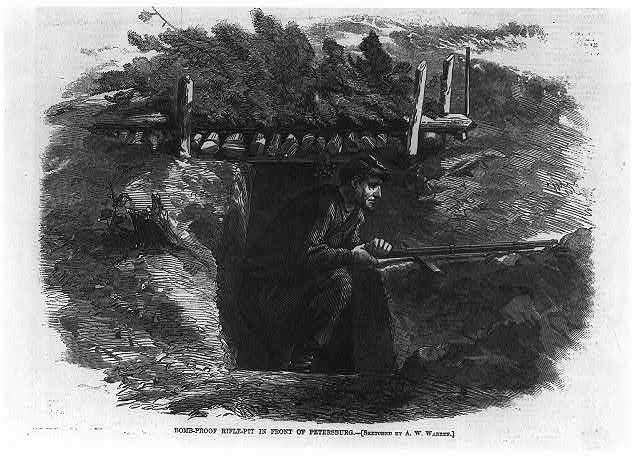 Bomb-proof rifle pit in front of Petersburg