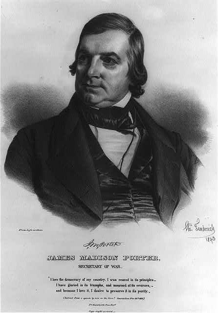 James Madison Porter, Secretary of War