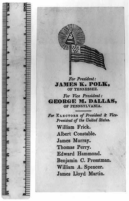 For President: James K. Polk, of Tennessee. For Vice President: George M. Dallas, of Pennsylvania