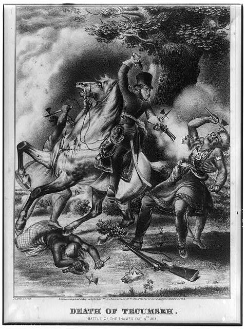 Death of Tecumseh. Battle of the Thames, Oct. 5th, 1813
