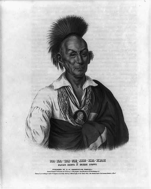 Ma-Ka-Tai-Me-She-Kia-Kiah, or Black Hawk, a Saukie brave