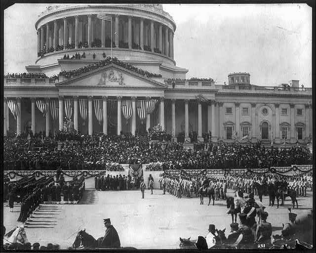 President Roosevelt taking the oath of office, Mar. 4 1905
