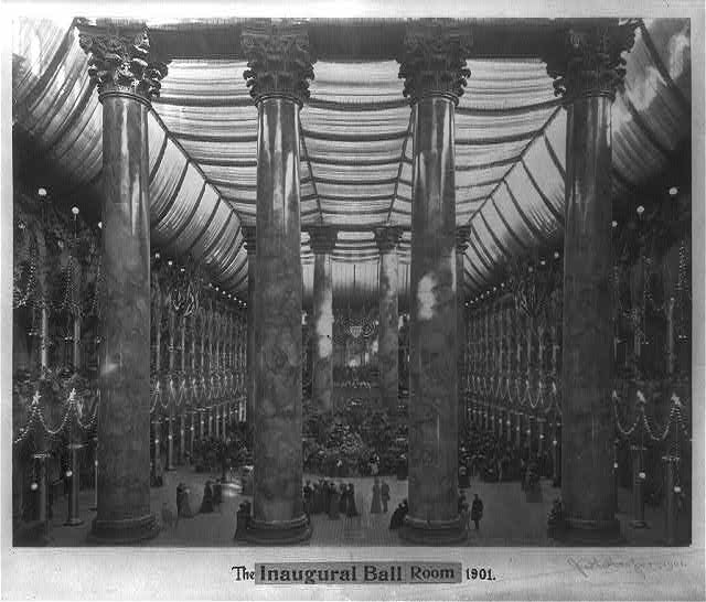 The inaugural ball room, 1901