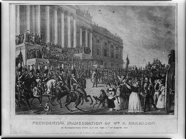 Presidential inauguration of Wm. H. Harrison in Washington City, D.C., on the 4th of March 1841