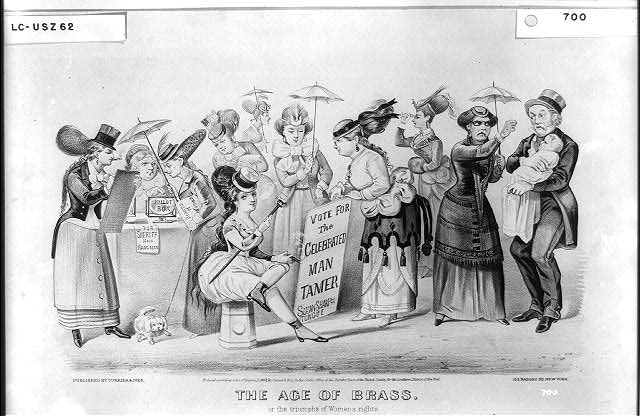 The age of brass. Or the triumphs of woman's rights