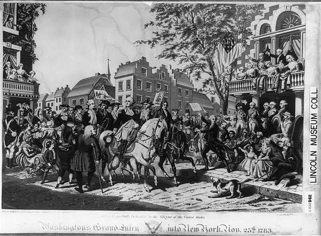 Washington's grand entry into New York. Nov. 25th, 1783