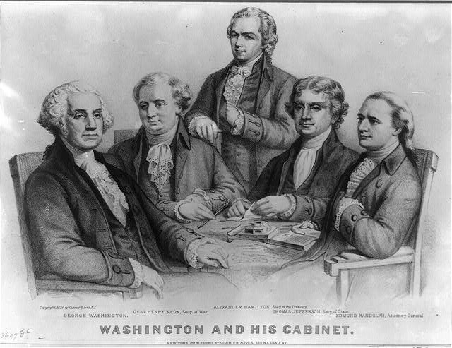 Washington and his cabinet