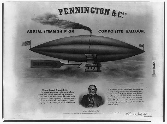 Pennington & Cos. aerial steam ship or composite ballon
