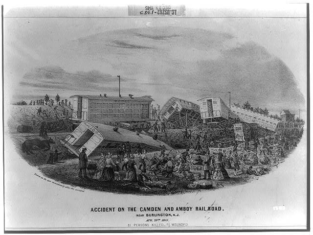 Accident on the Camden and Amboy railroad, near Burlington, N.J.