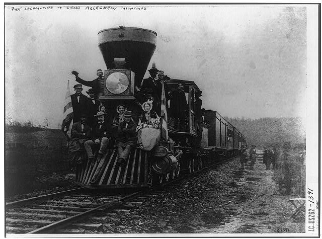 First locomotive to cross Allegheny Mountains