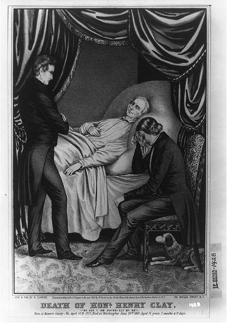 "Death of Honl. Henry Clay: ""My son i am going-sit by me"""