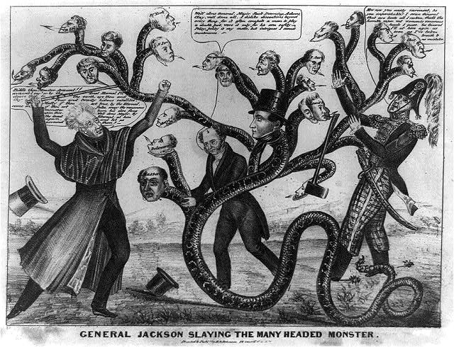 General Jackson slaying the many headed monster