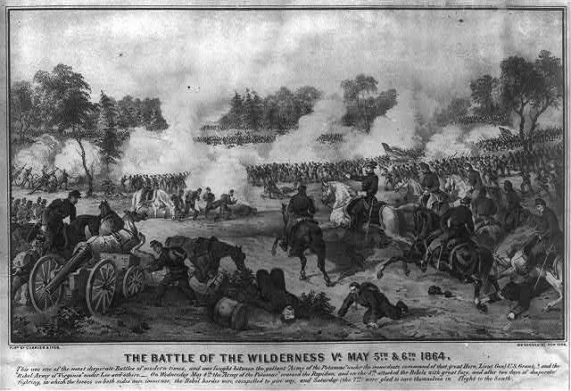 The battle of the Wilderness Va. May 5th & 6th 1864