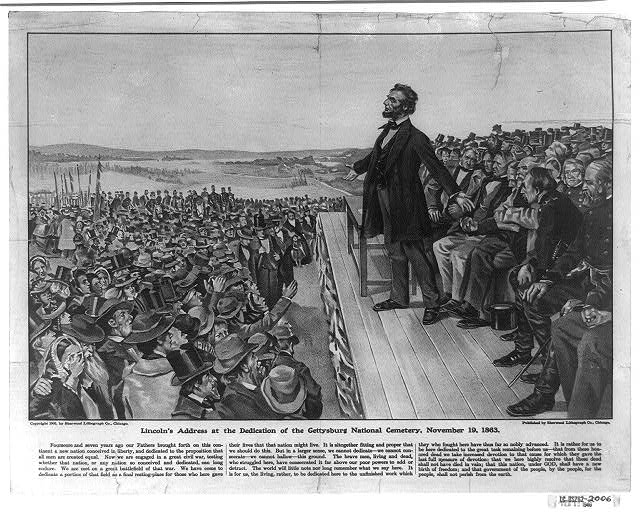 Lincoln&#39;s address at the dedication of the Gettysburg National Cemetery, November 19, 1863