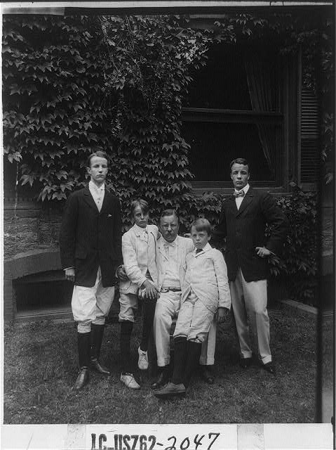 [Theodore Roosevelt and his sons]