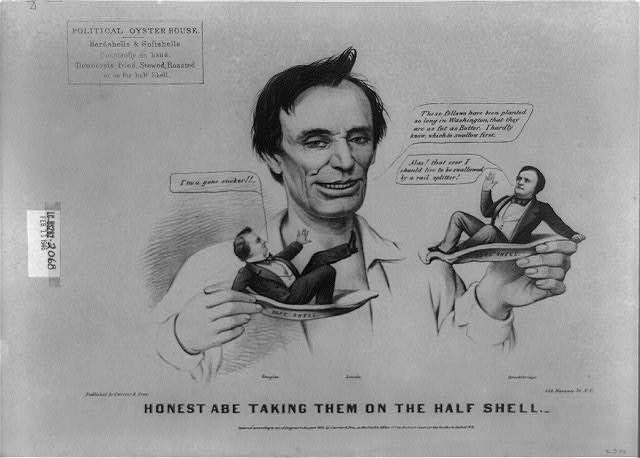 Honest Abe taking them on the half shell