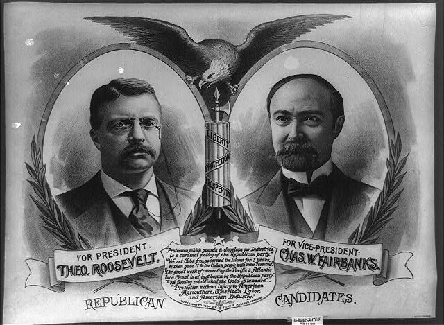 Republican candidates. For President, Theo. Roosevelt. For Vice President, Chas. W. Fairbanks