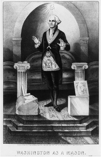 Washington as a mason