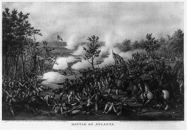 Battle of Atlanta--Death of Gen. James B. McPherson--July 22d 1864--Army of the Tennessee engaged