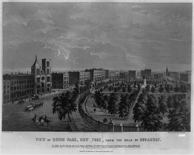View of Union Park, New York, from the head of Broadway